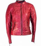 Richa Lausanne Ladies Leather Jacket Red
